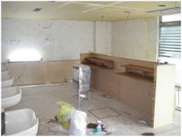 上京区 理容室 店舗改装 施工中